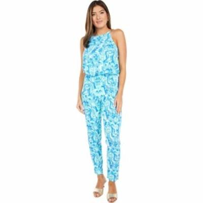 リリーピュリッツァー Lilly Pulitzer レディース オールインワン ジャンプスーツ ワンピース・ドレス Keeran Jumpsuit Seaglass Aqua Se