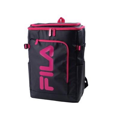 【カバンのセレクション】 フィラ FILA リュック レディース メンズ スクエア 30L 通学 大容量 おしゃれ 女子 ピンク 高校 新作 7577 ユニセックス ネイビー系2 フリー Bag&Luggage SELECTION