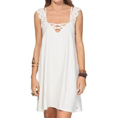 リップカール ドレス ワンピース 54 RIP CURL EVERLONG ドレス COVER-UP VANILLA サイズ M ミディアム code w154