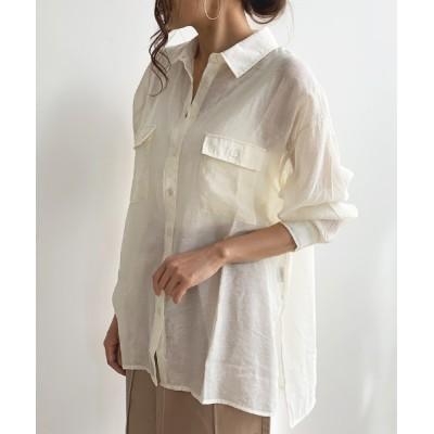 Futierland&SASA / シアーBIGシャツ WOMEN トップス > シャツ/ブラウス