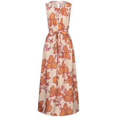 KATIA GIANNINI ロングワンピース&ドレス サンド 42 ポリエステル 100% ロングワンピース&ドレス