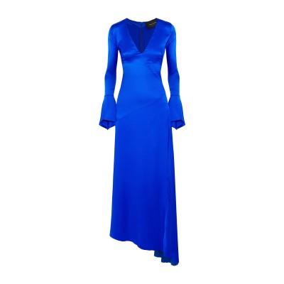 PAPER London ロングワンピース&ドレス ブライトブルー 6 シルク 95% / ポリウレタン 5% ロングワンピース&ドレス