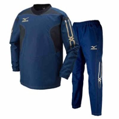 ミズノ タフブレーカーシャツ&パンツ上下セット ドレスネイビー  MIZUNO R2ME6001-14-R2MF6001-14