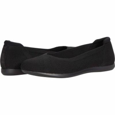 クラークス Clarks レディース スリッポン・フラット シューズ・靴 Carly Wish Black Knit