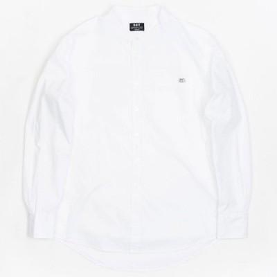 BAIT メンズ シャツ トップス Mandarin Collar Button Up Shirt white