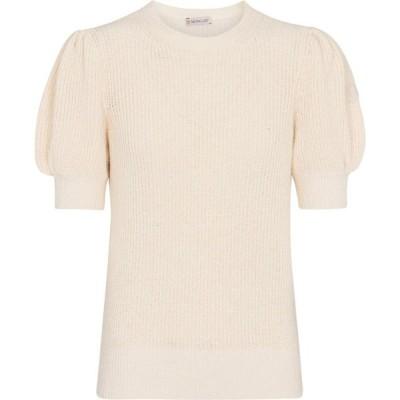 モンクレール Moncler レディース ニット・セーター トップス cotton-blend sweater White