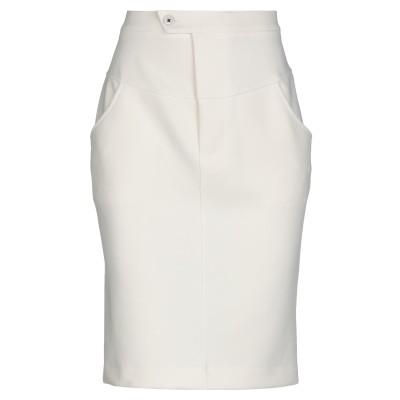 メルシー ..,MERCI ひざ丈スカート ホワイト 38 ポリエステル 95% / ポリウレタン 5% ひざ丈スカート