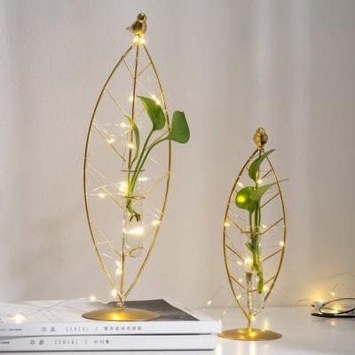 花瓶 一輪挿し 試験管 ゴールド ガラス 北欧 シンプル インテリア
