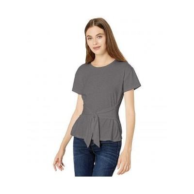 BB Dakota ビービーダコタ レディース 女性用 ファッション Tシャツ Cotton Jersey Tie Front T-Shirt - Light Heather Grey