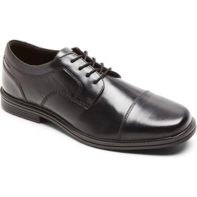 ロックポート ROCKPORT メンズ 革靴・ビジネスシューズ ダービーシューズ シューズ・靴 Taylor Waterproof Cap Toe Derby Black