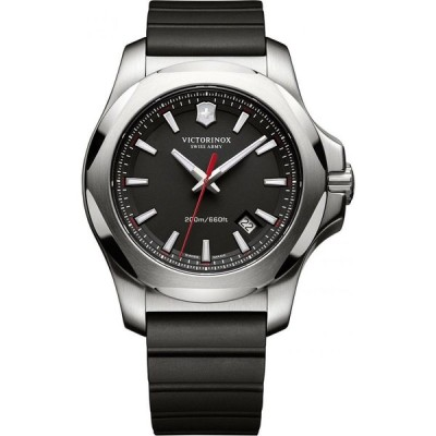 ビクトリノックス Victorinox Swiss Army メンズ 腕時計 I.N.O.X. Black Rubber Strap Watch 43mm 241682.1 No Color