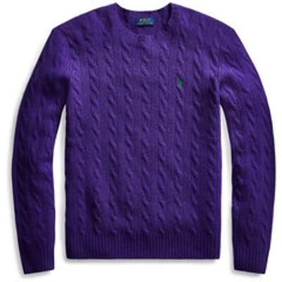ケーブル ウールカシミヤ セーター