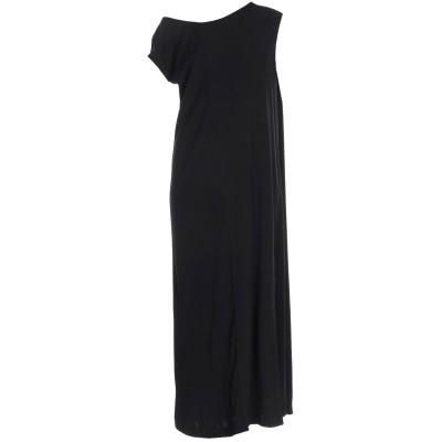 メゾン マルジェラ MAISON MARGIELA ロングワンピース&ドレス ブラック 40 レーヨン 100% ロングワンピース&ドレス