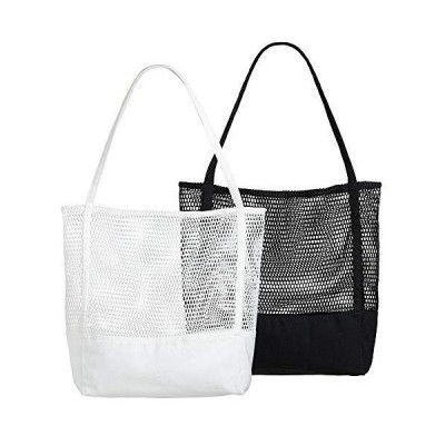 Lilyan エコバッグ 折りたたみ 買い物袋 トートバッグ 大容量キャンバス コンパクト 2枚セット おしゃれ 人気 丈夫 軽量 簡単 ショッピング
