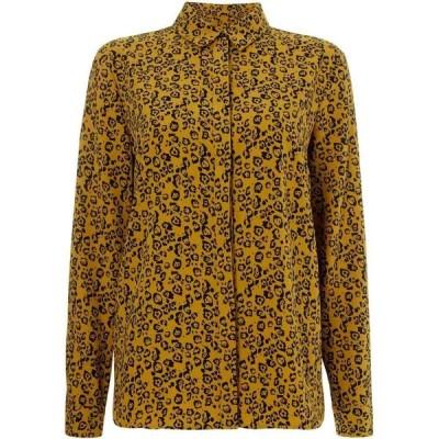 リネアペレ Linea レディース ブラウス・シャツ トップス Khaki leopard printed shirt Multi-Coloured