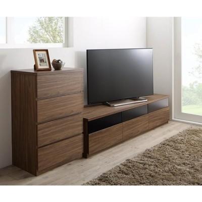 テレビ台 2点セット(テレビボード+チェスト) 幅180 TVボード TV台 テレビラック TVラック 木製 木目