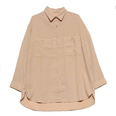 スタイルブロック STYLEBLOCK ポケットBIGシャツ (ベージュ)