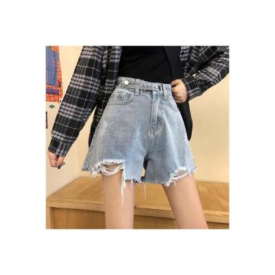 【送料無料】韓国風 ルース 何でも似合う 女性のジーンズ パンツ 春夏 年 学生 ハ | 346770_A64721-6654386