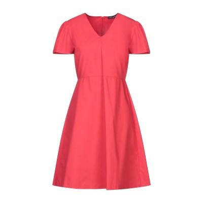 SANDRO FERRONE ミニワンピース&ドレス レッド 46 コットン 100% ミニワンピース&ドレス