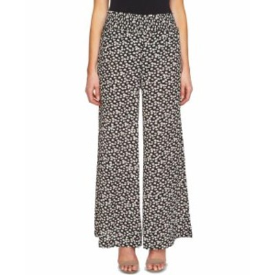 CeCe  ファッション パンツ CeCe Black Womens Size Large L Floral Print Smocked Pants Stretch