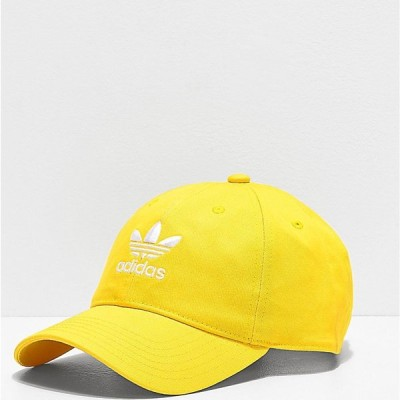 アディダス ADIDAS メンズ キャップ スナップバック 帽子 adidas Originals Relaxed Yellow Strapback Hat Yellow