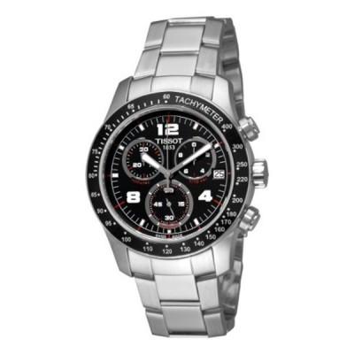ティソ Tissot 腕時計 メンズ 時計 Tissot Men's T0394171105700 Tissot V8 Black Chronograph Dial Watch