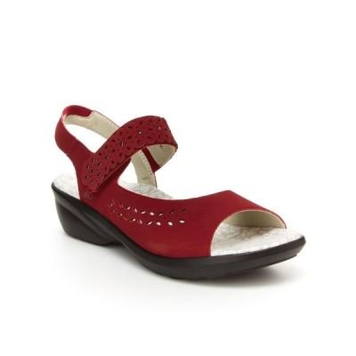 ジャイビーユー サンダル シューズ レディース Grace Comfort Wedge Sandal Red