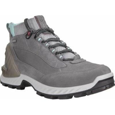 エコー レディース ブーツ・レインブーツ シューズ Women's ECCO Exohike High GORE-TEX Hiking Boot Titanium/Concrete Yak Nubuck