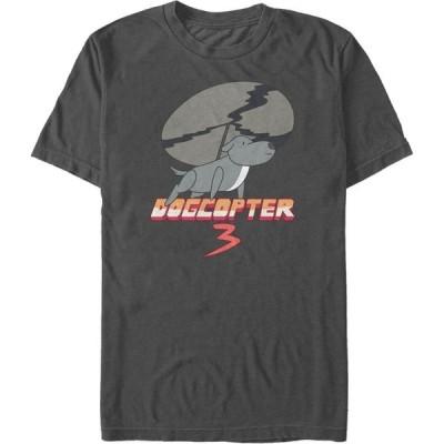 フィフス サン Fifth Sun メンズ Tシャツ トップス Steven Universe Dogcopter 3 Short Sleeve T- shirt Charcoal