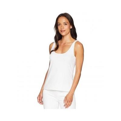 Vince Camuto ヴィンスカムート レディース 女性用 ファッション トップス シャツ Sleeveless Knit Tank - Ultra White