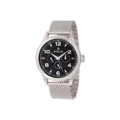 インヴィクタ 腕時計 Invicta 12204 メンズ ビンテージ ブラック ダイヤル ステンレス スチール 腕時計