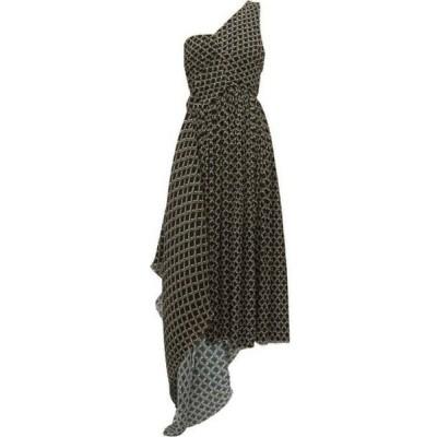 プリーン バイ ソーントン ブルガッジ Preen By Thornton Bregazzi レディース ワンピース Jerica geometric-print pleated-chiffon dress Black