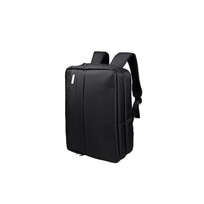 Douguyan 3WAYビジネスバッグ マチ拡張 通勤 1~2日出張対応 A4 PC収納 スクエアリュック バックパック メンズ 通学 iPad 対