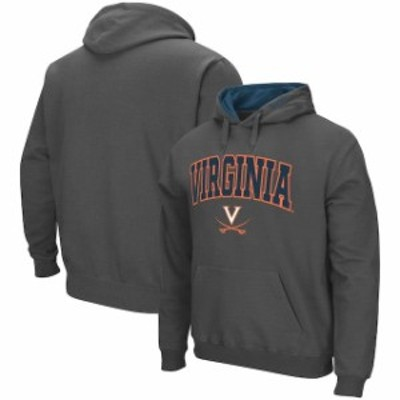Colosseum コロセウム スポーツ用品  Colosseum Virginia Cavaliers Charcoal Arch & Logo Tackle Twill Pullover Hoodie