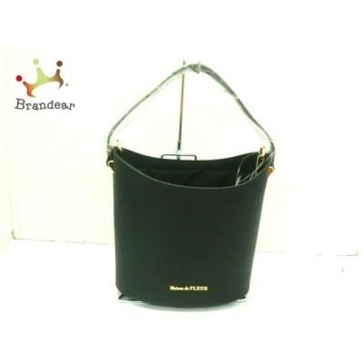 メゾンドフルール Maison de FLEUR ハンドバッグ 美品 黒 合皮×ナイロン 新着 20200702