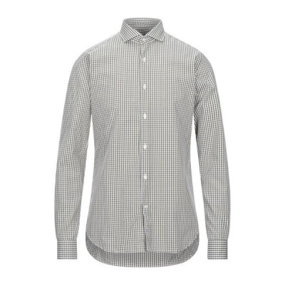 CALIBAN チェック柄シャツ ファッション  メンズファッション  トップス  シャツ、カジュアルシャツ  長袖 ミリタリーグリーン