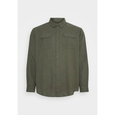 ブレンド シャツ メンズ トップス Shirt - dusty olive