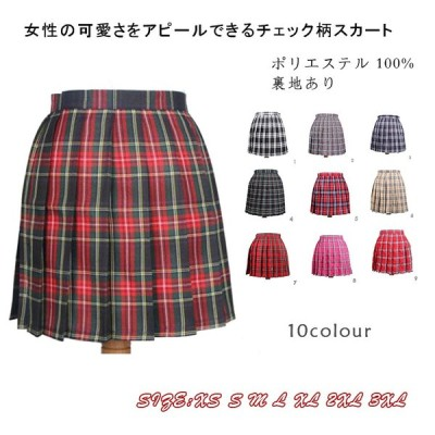 Pandoraスカート ミニスカート プリーツ シンプル チェック柄 レディース