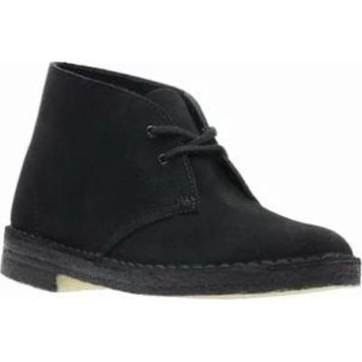 Clarks レディースシューズ Clarks Desert Boot Black/Black Suede