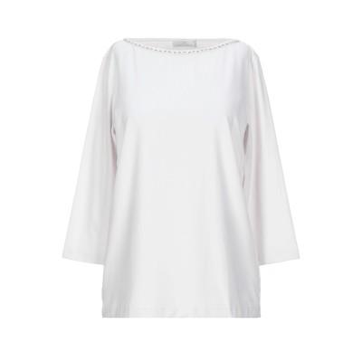 GIANNI CUCCUINI T シャツ ライトグレー 44 コットン 80% / ポリウレタン 20% T シャツ