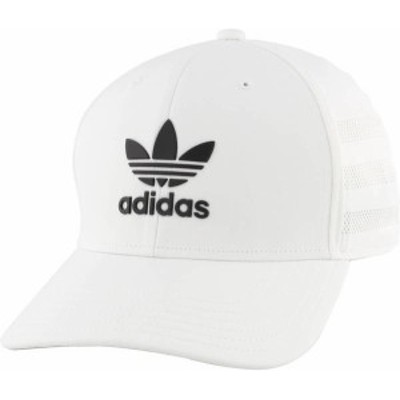 アディダス メンズ 帽子 アクセサリー adidas Originals Men's Beacon II Precurve Snapback Hat White