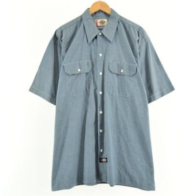 ディッキーズ Dickies 半袖 ワークシャツ メンズXL /eaa049777