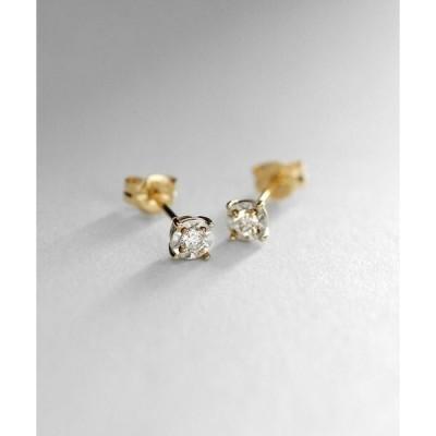 COCOSHNIK / ココシュニック K18ダイヤモンド ミラーカット小 スタッドピアス