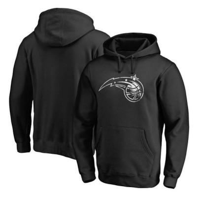ユニセックス スポーツリーグ バスケットボール Orlando Magic Fanatics Branded Marble Logo Pullover Hoodie - Black トレーナー