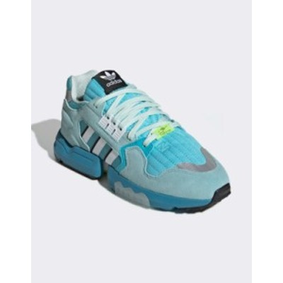 アディダス メンズ スニーカー シューズ adidas Originals ZX torsion sneakers in aqua Blue