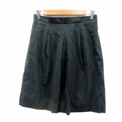 【中古】アンタイトル UNTITLED フレアスカート ひざ丈 2 黒 ブラック /MN レディース