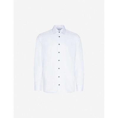 イートン ETON メンズ シャツ スキニー・スリム スリム トップス Slim-fit cotton shirt Blue