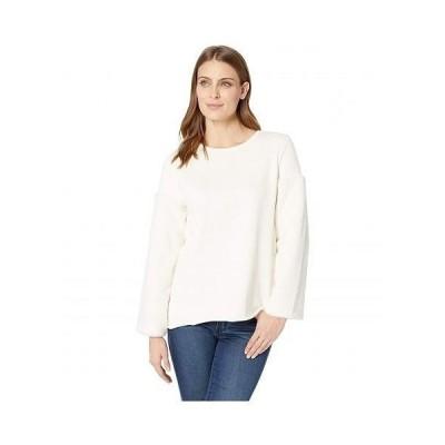 Vince Camuto ヴィンスカムート レディース 女性用 ファッション セーター Fleece Sleeve French Terry Pullover - Antique White