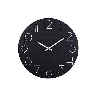 壁掛け時計 木製 け鐘 おしゃれなインテリア時計 連続秒針 音無し 円形 環境にやさしい 天然木 飾り付け 電池式 直径約30cm