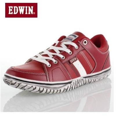 エドウィン EDWIN ED-7137  RED スニーカー ローカット メンズ